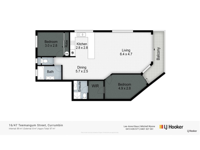 16/47 Teemangum Street, Currumbin QLD 4223 Floorplan
