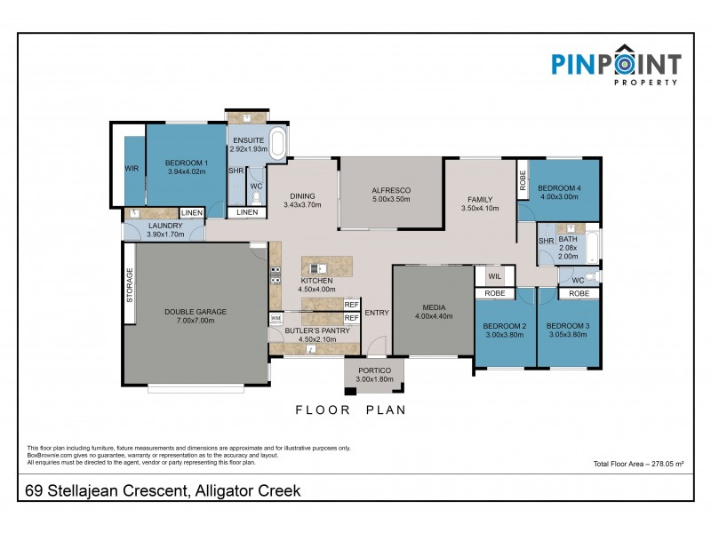 69 Stellajean Crescent, Alligator Creek QLD 4740 Floorplan