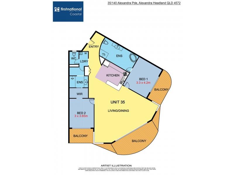 35/140 Alexandra Parade, Alexandra Headland QLD 4572 Floorplan