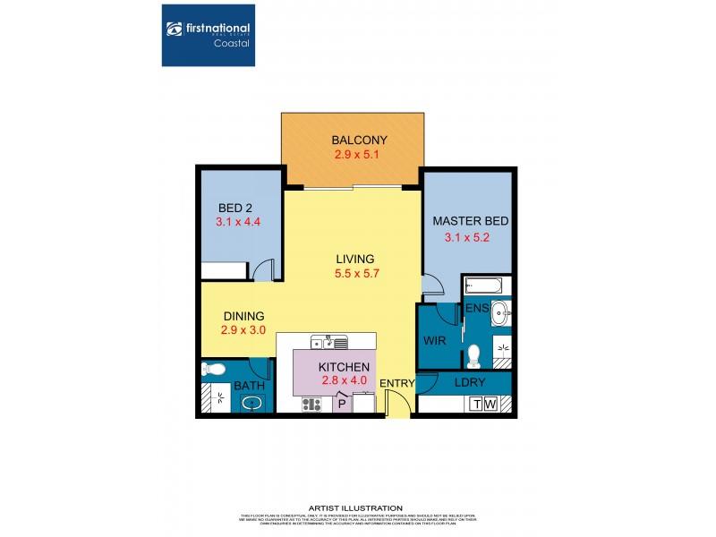 1002/1 Duporth Avenue, Maroochydore QLD 4558 Floorplan