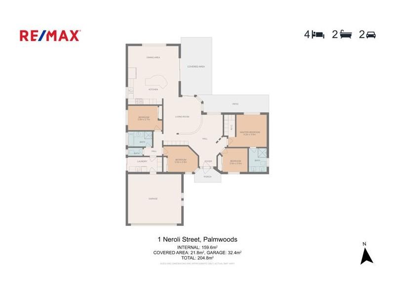 1 Neroli Street, Palmwoods QLD 4555 Floorplan