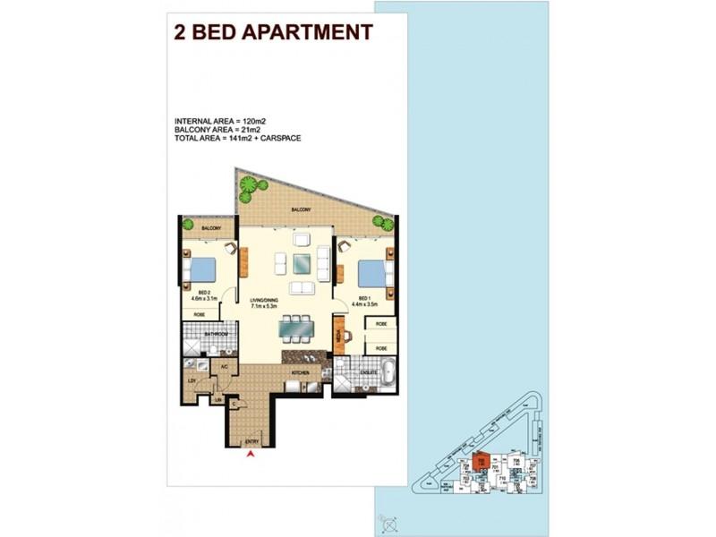 805/1 Como Crescent, Southport QLD 4215 Floorplan