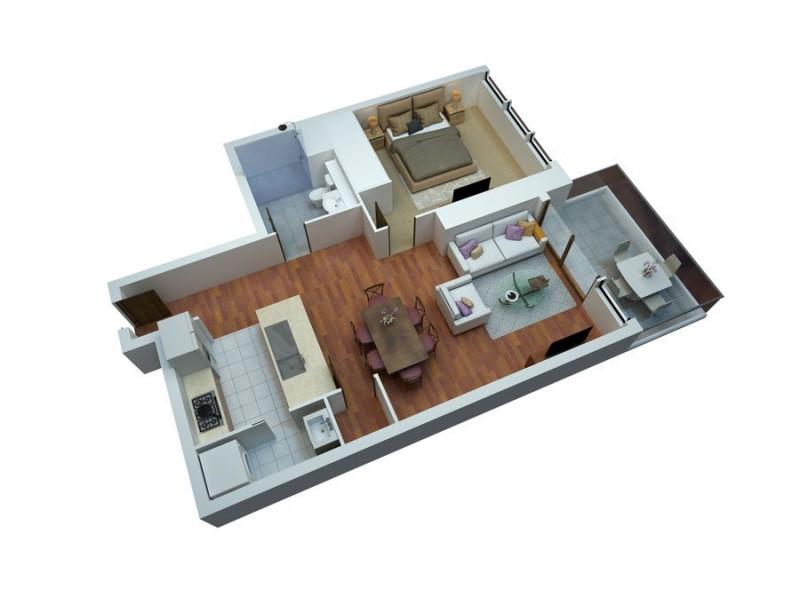 1002/2 Como Crescent, Southport QLD 4215 Floorplan