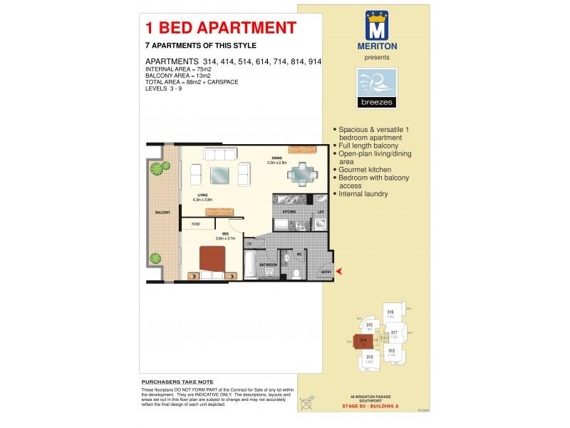614/3 Como Crescent, Southport QLD 4215 Floorplan