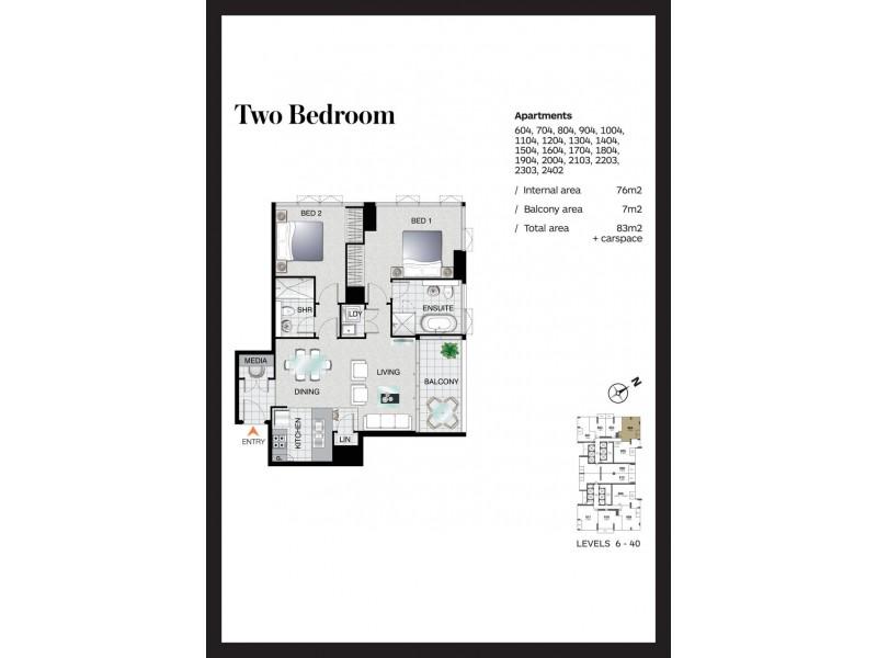 904/2 Como Crescent, Southport QLD 4215 Floorplan