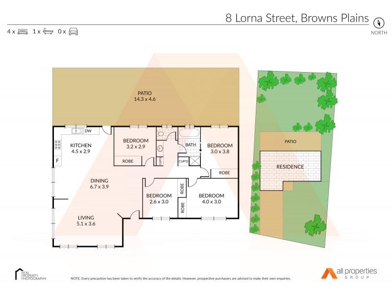8 Lorna Street, Browns Plains QLD 4118 Floorplan