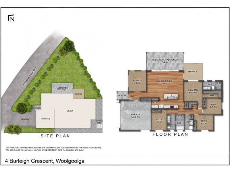 4 Burleigh Crescent, Woolgoolga NSW 2456 Floorplan