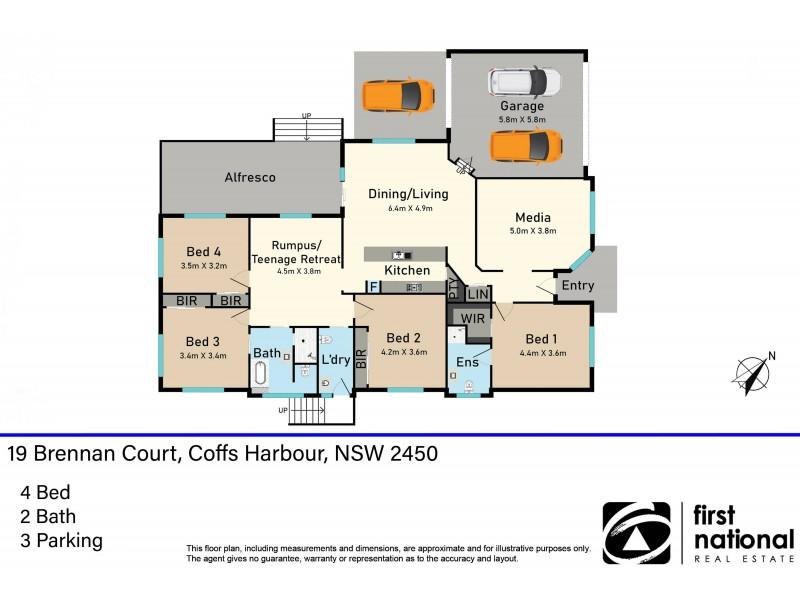 19 Brennan Court, Coffs Harbour NSW 2450 Floorplan