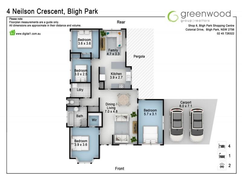 4 Neilson Crescent, Bligh Park NSW 2756 Floorplan