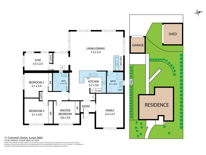 11 Commins St, Junee NSW 2663 Floorplan