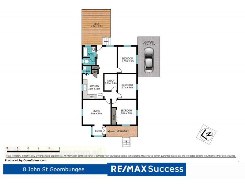 8 John Street, Goombungee QLD 4354 Floorplan