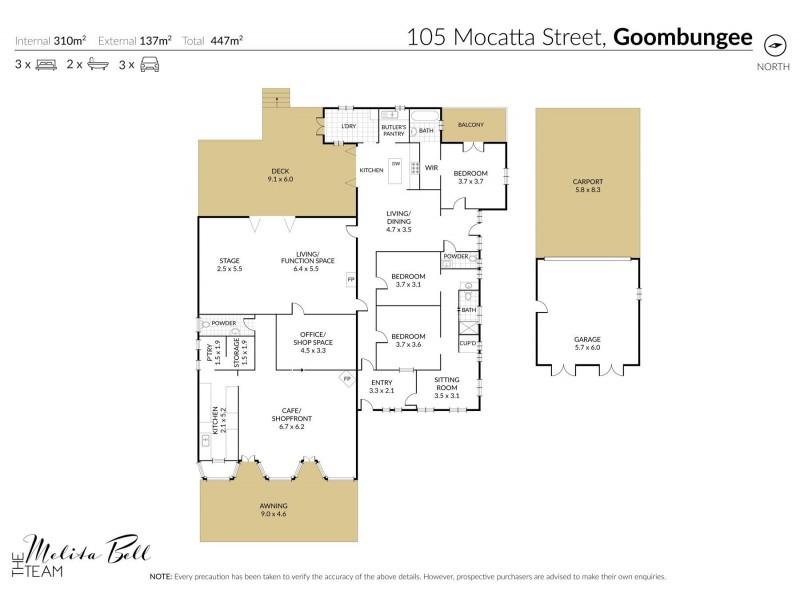 105 Mocatta Street, Goombungee QLD 4354 Floorplan