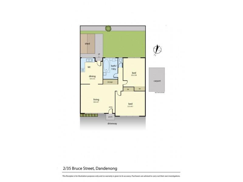 2/35 Bruce Street, Dandenong VIC 3175 Floorplan
