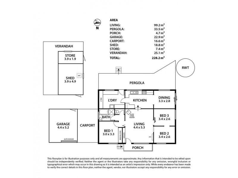 15 & 17 Donald Street, Dawesley SA 5252 Floorplan