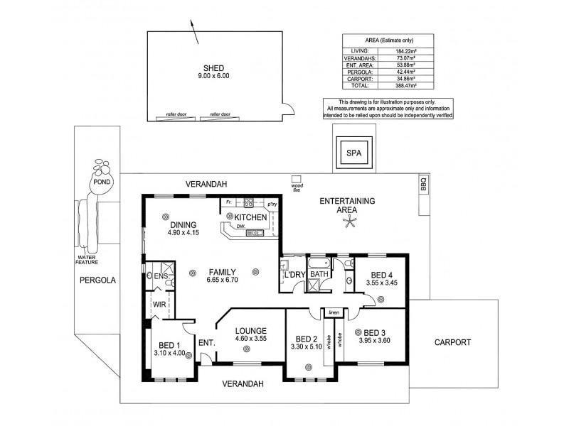 20 Joseph Rd, Blakiston SA 5250 Floorplan