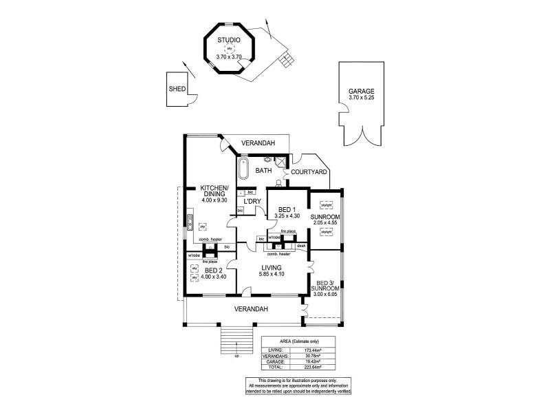 9 Hawthorn Rd, Stirling SA 5152 Floorplan
