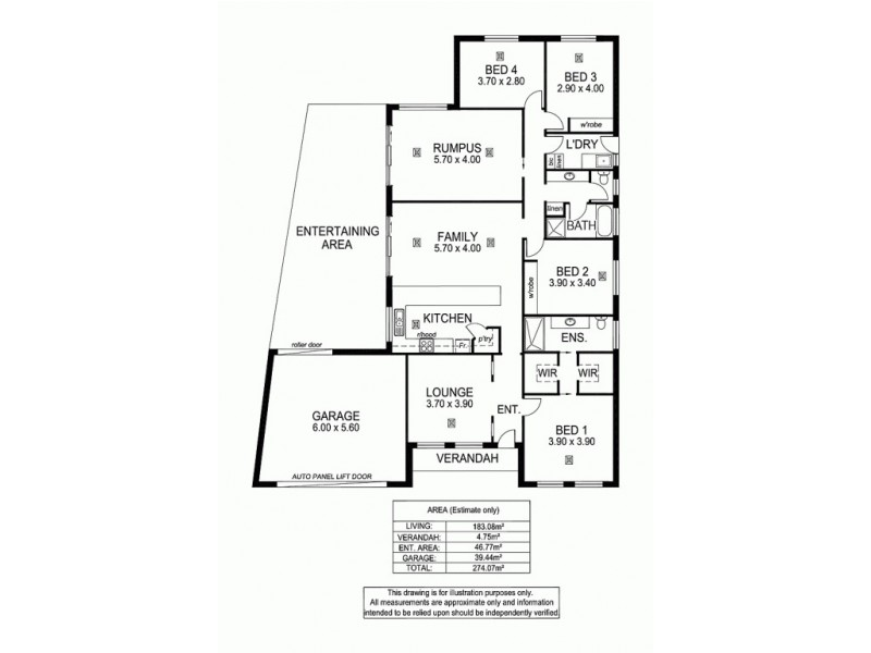 1A O'Donnell Dr, Littlehampton SA 5250 Floorplan