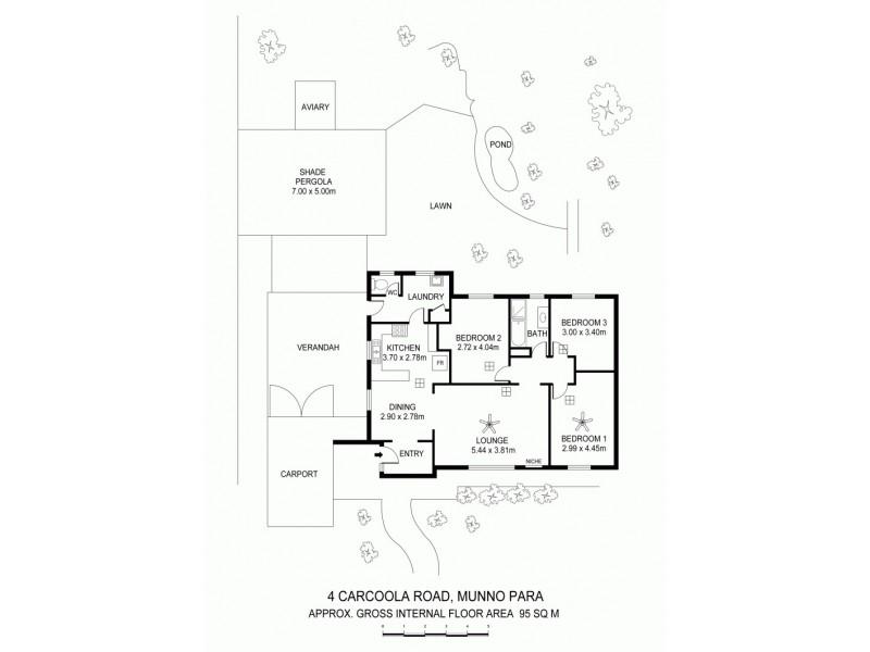 4 Carcoola Road, Munno Para SA 5115 Floorplan