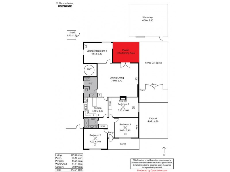 60 Plymouth Avenue, Devon Park SA 5008 Floorplan