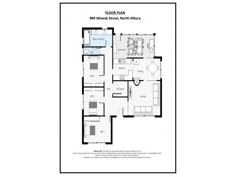 989 Wewak Street, North Albury NSW 2640 Floorplan