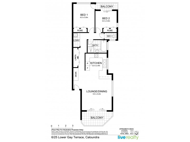 6/25 Lower Gay Terrace, Caloundra QLD 4551 Floorplan