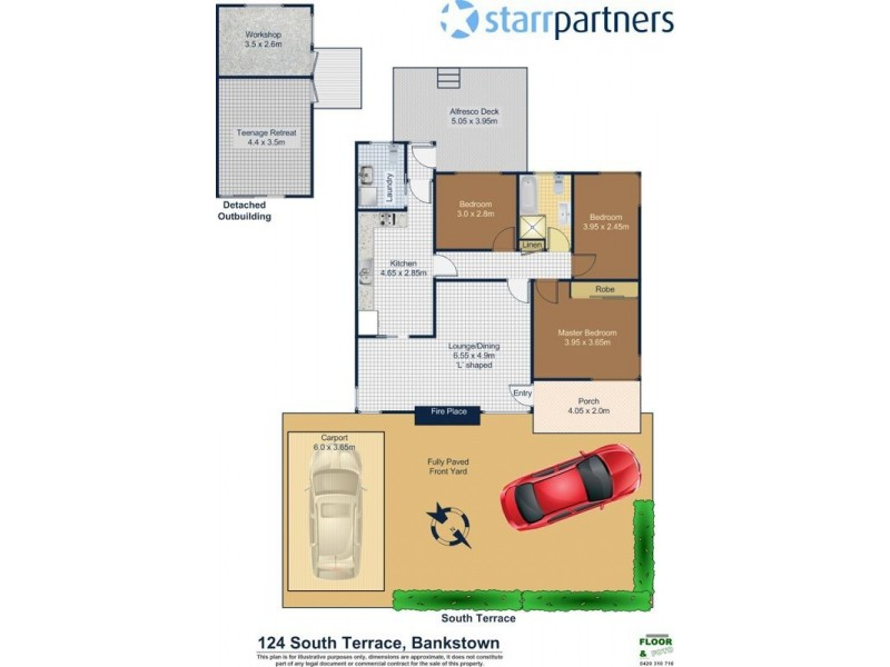 124 South Terrace, Bankstown NSW 2200 Floorplan
