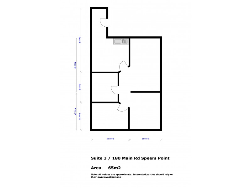 Suite 3, 180 Main Road, Speers Point NSW 2284 Floorplan