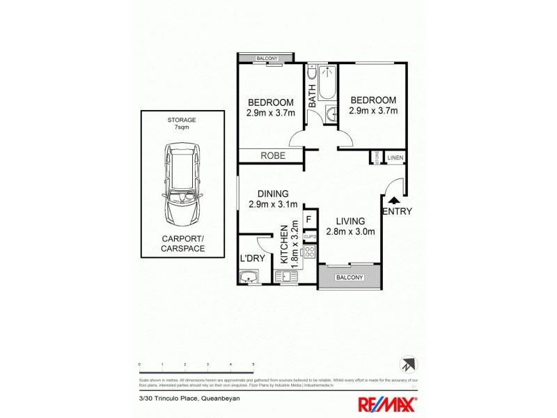 3/30 Trinculo Place, Queanbeyan NSW 2620 Floorplan