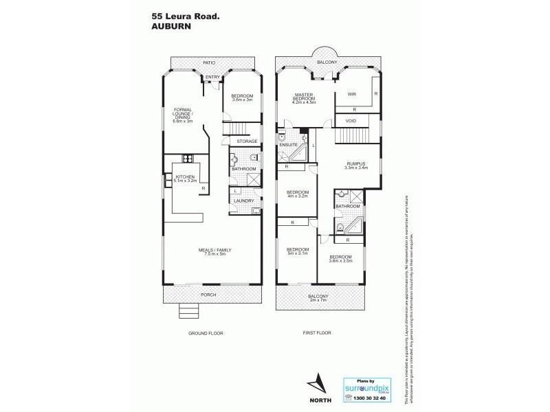 55 Leura Rd, Auburn NSW 2144 Floorplan