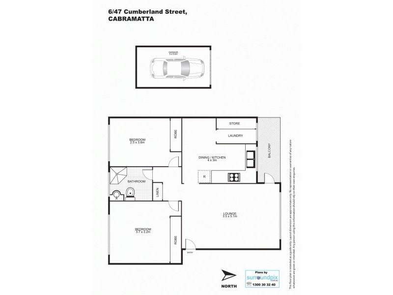 6/47 Cumberland Street, Cabramatta NSW 2166 Floorplan