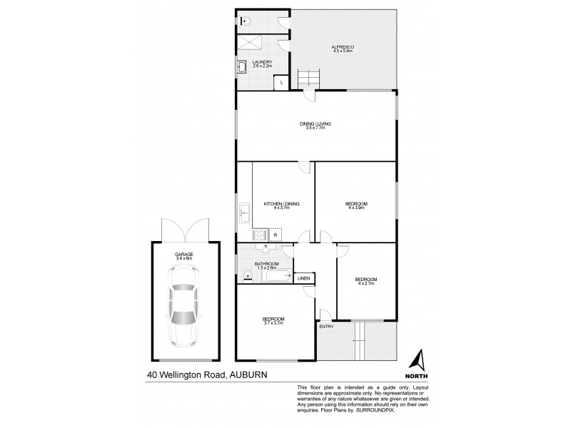40 Wellington Road, Auburn NSW 2144 Floorplan