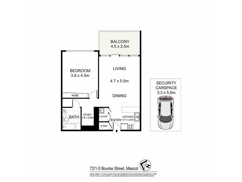 72/1-5 Bourke Street, Mascot NSW 2020 Floorplan