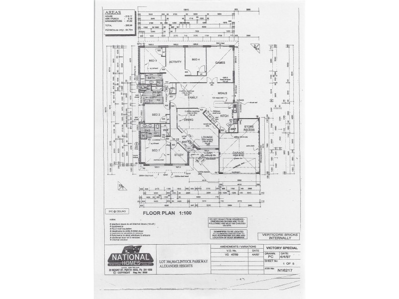 21 McClintock Parkway, Alexander Heights WA 6064 Floorplan