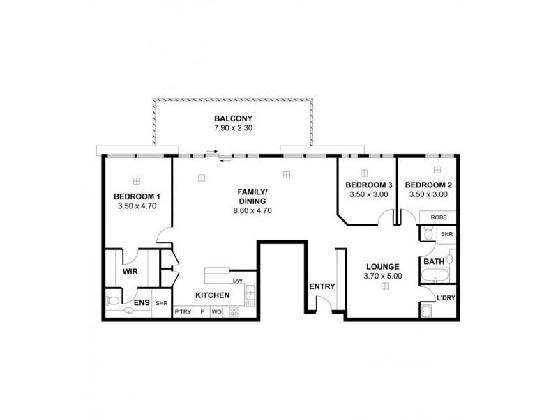 54/7 Liberman Close, Adelaide SA 5000 Floorplan