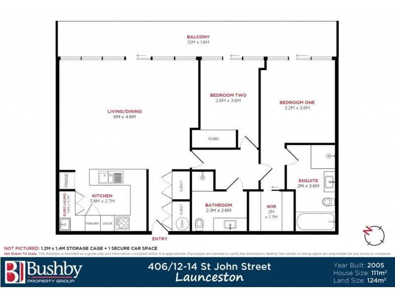 406/12-14 St John Street, Launceston TAS 7250 Floorplan