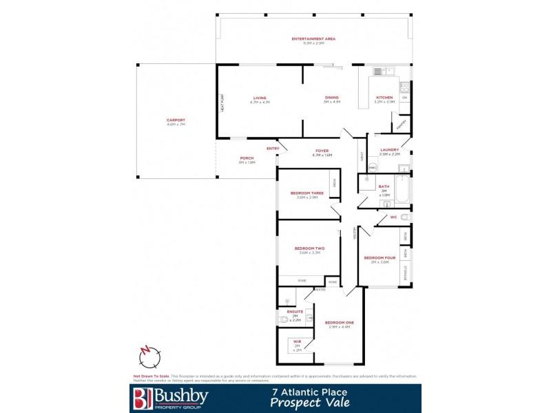 7 Atlantic Place, Prospect Vale TAS 7250 Floorplan
