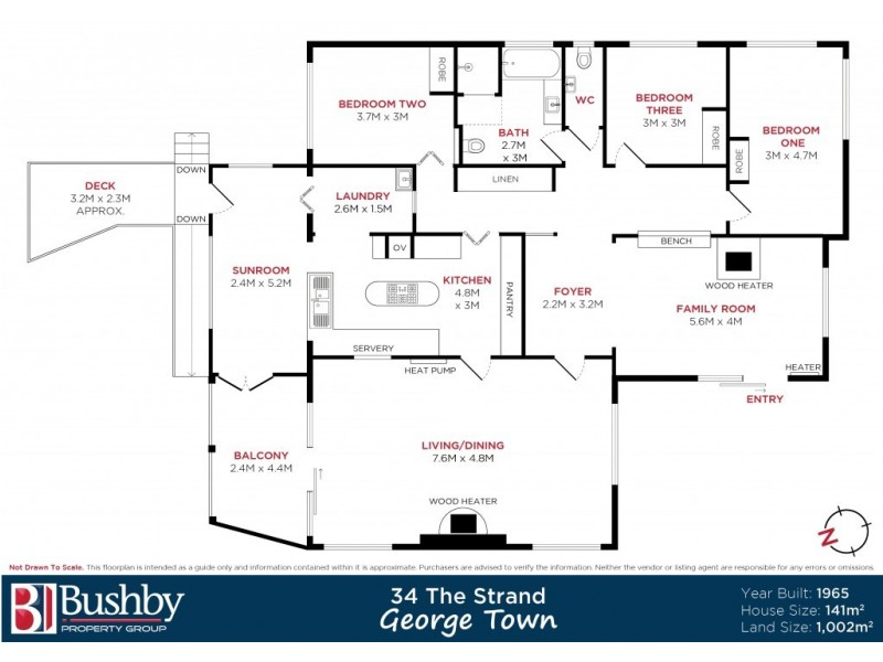 34 The Strand, George Town TAS 7253 Floorplan