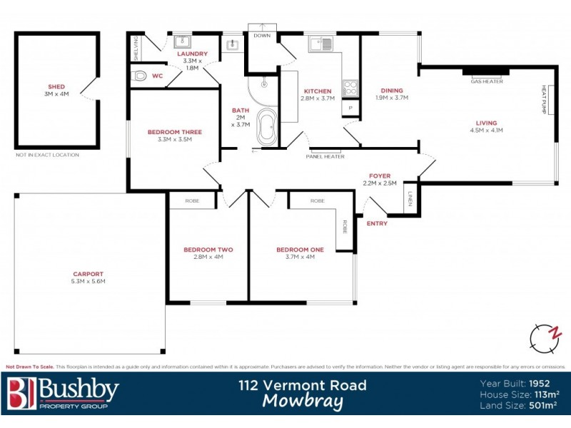 112 Vermont Road, Mowbray TAS 7248 Floorplan