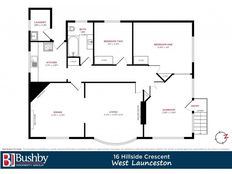 16 Hillside Crescent, West Launceston TAS 7250 Floorplan