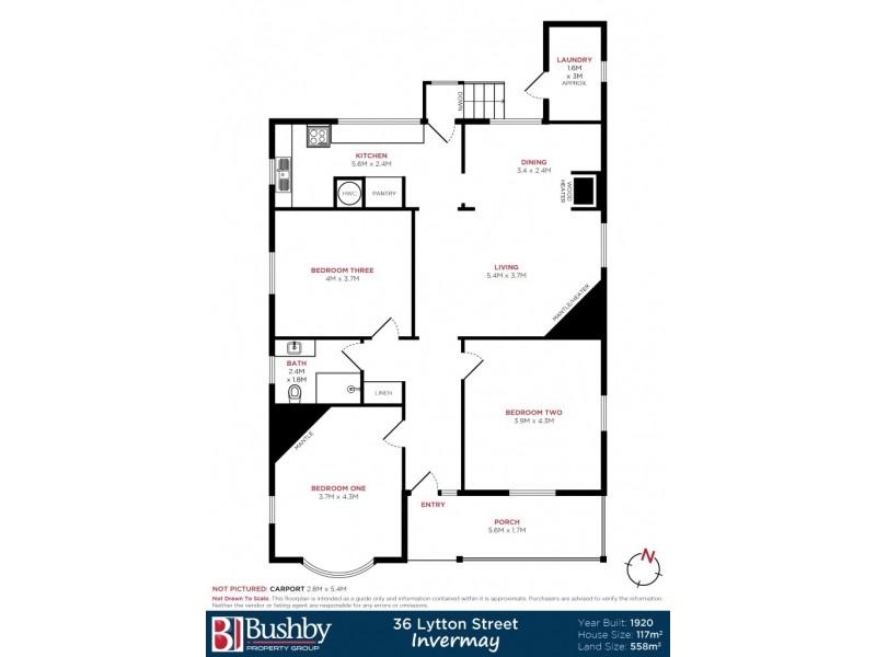 36 Lytton Street, Invermay TAS 7248 Floorplan