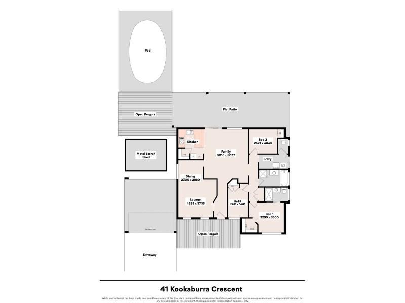 41 Kookaburra Crescent, High Wycombe WA 6057 Floorplan