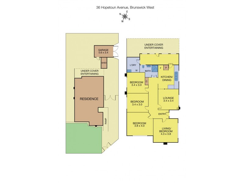 36 Hopetoun Avenue, Brunswick West VIC 3055 Floorplan