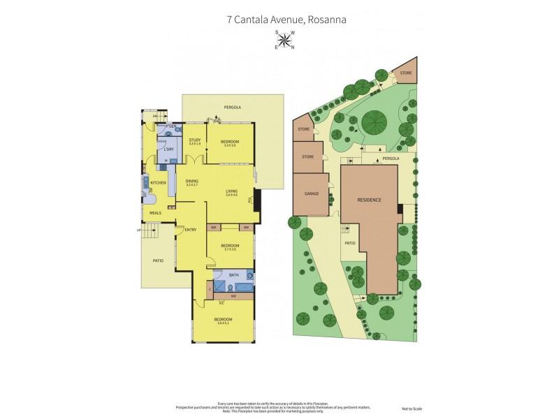 7 Cantala Avenue, Rosanna VIC 3084 Floorplan