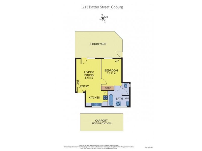 1/13 Baxter Street, Coburg VIC 3058 Floorplan