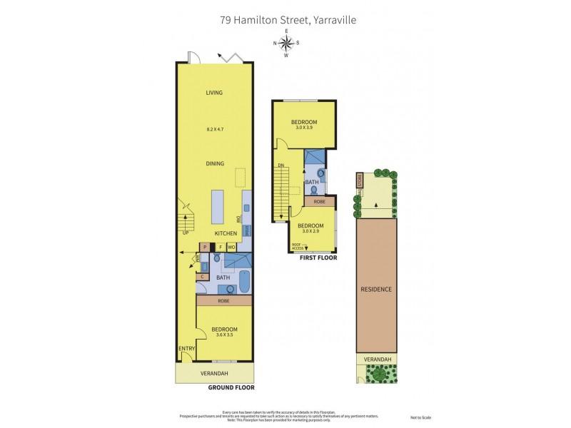 79 Hamilton Street, Yarraville VIC 3013 Floorplan