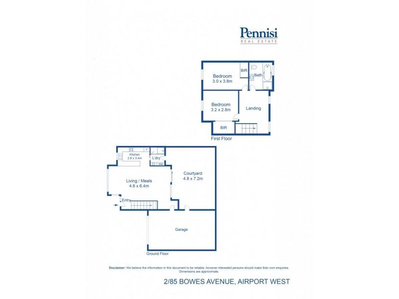 2/85 Bowes Avenue, Airport West VIC 3042 Floorplan