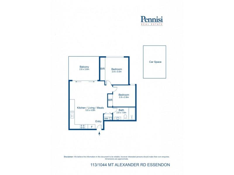 113/1044 Mount Alexander Road, Essendon VIC 3040 Floorplan