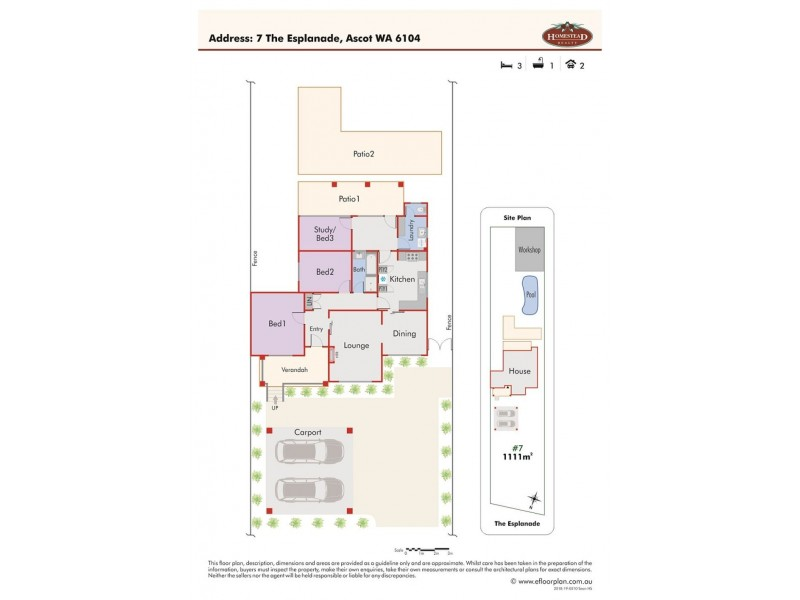 7 The Esplanade, Ascot WA 6104 Floorplan