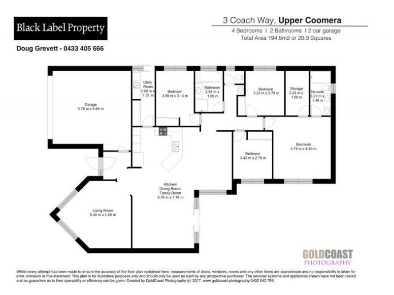 3 Coach Way, Upper Coomera QLD 4209 Floorplan