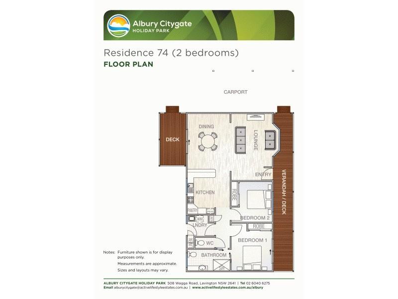 Residence 74 508 Wagga Road, Albury NSW 2640 Floorplan